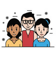 young friends cartoons vector image
