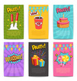 carnival comic posters vector image
