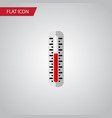 isolated thermometer flat icon temperature vector image