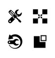 recovery repair simple related icons vector image