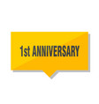 1st anniversary price tag vector image
