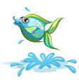 A cute fish at the sea vector image vector image