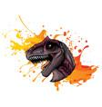 a t rex tyrannosaurus rex vector image