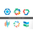 abstract colorful logo set vector image vector image