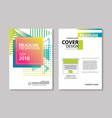 abstract gradient modern geometric flyer and poste vector image