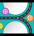 Abstract road and wheels background vector image vector image