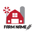 agricultural farm industry company design simple vector image vector image
