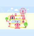 amusement park map infographic elements vector image vector image