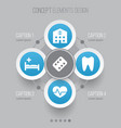 antibiotic icons set collection of polyclinic vector image vector image