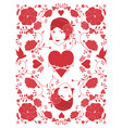 beautiful retro style woman surrounded floral vector image vector image