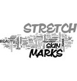 beauty consciousness and stretch marks text word vector image vector image