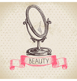 Beauty sketch background vector image