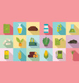 bio fuel icons set flat style vector image vector image