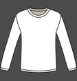 Blank long-sleeved T-shirt template vector image vector image