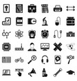 business seminar icons set simple style vector image vector image