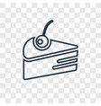cake concept linear icon isolated on transparent vector image vector image
