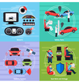 Car Safety Systems Template vector image vector image