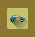 Cartoon car flat icon vector image vector image