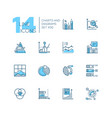 charts and diagrams - set line design style vector image