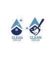clean house logo icon graphic design template vector image vector image