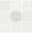 collection seamless ornamental geometric vector image
