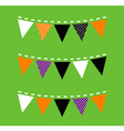 Colorful Halloween Bunting isolated on green vector image vector image