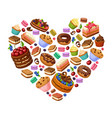 colorful sweet products concept vector image