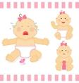 cute cartoon small pink bagirl vector image