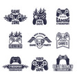 cyber sport badges and labels pictures for gamers vector image vector image