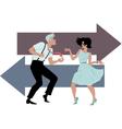 dancing twist vector image vector image
