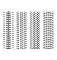 dotted tire track set 5 vector image vector image