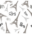 eiffel tower paris seamless background vector image