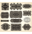 Elegant Victorian Letterhead flourishes vector image vector image