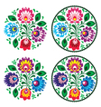 Ethnic round polish embroidery with flowers vector | Price: 1 Credit (USD $1)