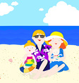 Family in summer vector image vector image