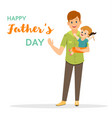 father with his son and daughter father s day vector image