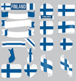Finland flags vector image vector image