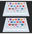 flat modern keyboard social buttons vector image