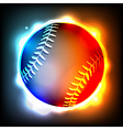 Glowing Baseball vector image vector image