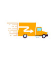 goods fast delivery freight truck icon vector image vector image