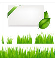 green grass collection vector image vector image