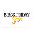 hand drawn black friday sale lettering typography vector image vector image