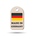 hang tag made in germany with flag on white vector image vector image