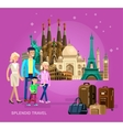 High quality detailed World landmarks vector image vector image