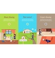 House Cleaning Video Web Banner vector image
