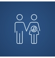 Husband with pregnant wife line icon vector image vector image