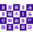 kitchen appliance color silhouette icon set vector image