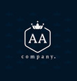 letter aa a crown monogram and emblem