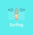 logo template surfing vector image vector image