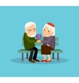 Lovely old couple vector image